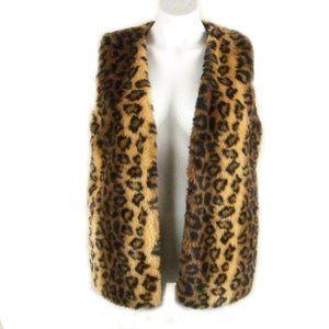 Animal Print Fun (faux) Fur Vest